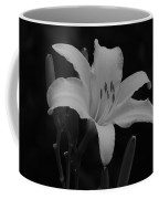 Daylily In Black And White Coffee Mug