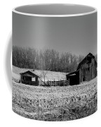 Days Gone By - Arkansas Barn In Black And White Coffee Mug