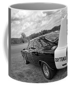 Daytona Charger In Black And White Coffee Mug