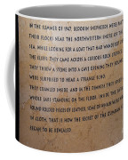 Dead Sea Scroll Document Coffee Mug