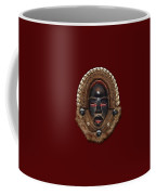Dean Gle Mask By Dan People Of The Ivory Coast And Liberia On Red Velvet Coffee Mug