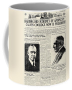 Death Of Harding, 1923 Coffee Mug