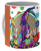 Death Takes His Bunny Friends To The Circus Coffee Mug