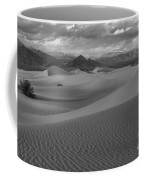 Death Valley Dunes Black And White Coffee Mug