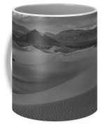 Death Valley Dunes Black And White Panorama Coffee Mug