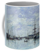 Deauville The Dock Coffee Mug by Eugene Louis Boudin