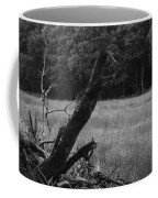 Debris Black And White Coffee Mug
