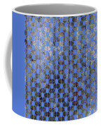 Decadent Urban Blue Patterned Abstract Design Coffee Mug
