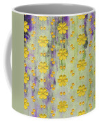 Decadent Urban Bright Yellow Patterned Purple Abstract Design Coffee Mug