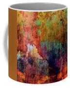 Decadent Urban Red Wall Grunge Abstract Coffee Mug