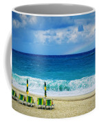 Deck Chairs And Distant Rainbow Coffee Mug