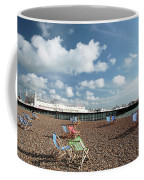 Deckchairs On Brighton Beach Coffee Mug
