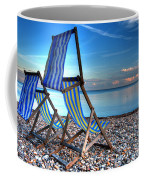 Deckchairs On The Shingle Coffee Mug