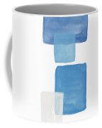 Deconstructed Blue Gingham 1- Art By Linda Woods Coffee Mug