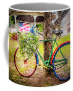 Decorated Bicycle In The Park Coffee Mug