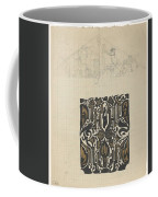 Decorative Design And Sketch Of The Front Tympanum Of The Royal Palace In Amsterdam, Carel Adolph Li Coffee Mug
