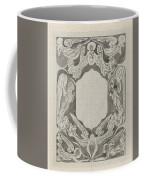 Decorative Design With Angels, Carel Adolph Lion Cachet, 1874 - 1945 Coffee Mug