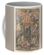 Decorative Design With Two Heralds At The Top, Carel Adolph Lion Cachet, 1874 - 1945 Coffee Mug