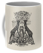Decorative Design With Two Standing Deer, Carel Adolph Lion Cachet, 1874 - 1945 Coffee Mug