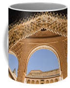 Decorative Moorish Architecture In The Nasrid Palaces At The Alhambra Granada Spain Coffee Mug