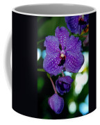 Deep Blue Orchid Coffee Mug