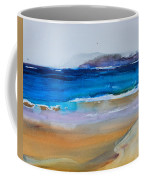 Deep Blue Sea And Golden Sand Coffee Mug