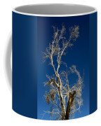 Deep Blue White Tree Coffee Mug