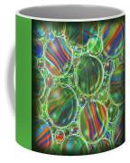 Deep Green Marbles Shower Curtain Coffee Mug
