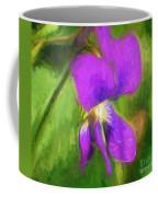 Deep Purple - Wildflower Art Coffee Mug