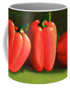 Deep Red Peppers Coffee Mug