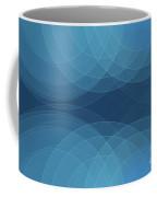 Deep Sea Semi Circle Background Horizontal Coffee Mug