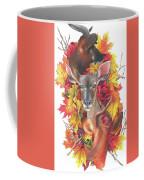 Deer And Fall Leaves Coffee Mug