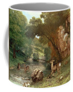 Deer By A River Coffee Mug