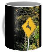 Deer Crossing Sign 2 Coffee Mug