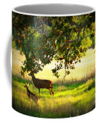 Deer In Autumn Meadow - Digital Painting Coffee Mug