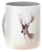 Deer In Ink Coffee Mug