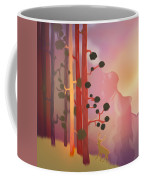 Deer In The Forest - Abstract And Colorful Mountains Coffee Mug