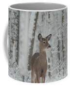 Deer In The Snow Coffee Mug