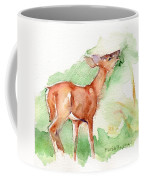 Deer Painting In Watercolor Coffee Mug