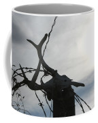 Deer Skull In Wire Coffee Mug