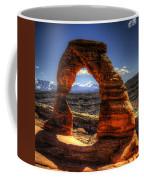 Delicate Arch Framing La Sal Mountains Coffee Mug