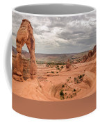 Delicate Arch Panoramic Coffee Mug by Adam Romanowicz