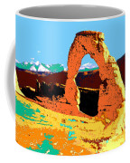 Delicate Arch Utah - Pop Art Coffee Mug