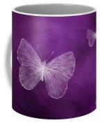 Delicate Butterflies Purple Coffee Mug