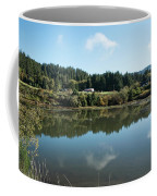 Delicate Clouds Reflected Coffee Mug