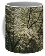 Delicate White Dogwood Blossoms Cover Coffee Mug