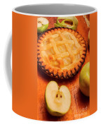 Delicious Apple Pie With Fresh Apples On Table Coffee Mug