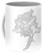 Denali Art Print Contour Map Of Denali In Alaska Coffee Mug