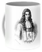 Denis Papin With Steam Engine Diagram Coffee Mug