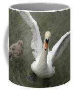 Denmark, Copenhagen Swan Flaps Her Wing Coffee Mug